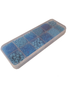 Box of Blue Gutermann glass beads