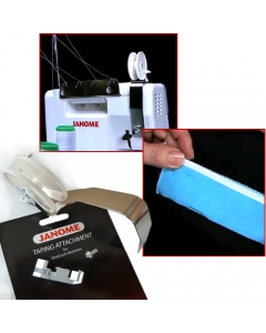 Add tape to seams using this attachment