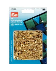 Prym Curved Brass Safety Pins 38mm 071380