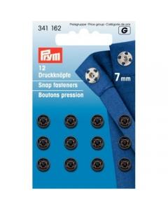 Prym Sew-on Snap Fasteners Black 7mm