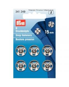 Prym Sew-on Snap Fasteners Silver 15 Mm