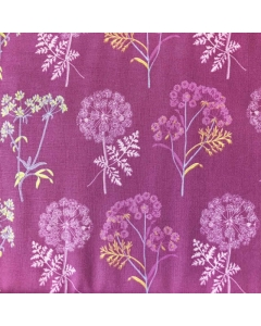 Purple Blossom and Flower Fabric