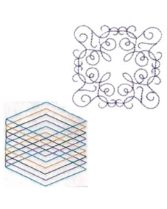 10 set Quilting Block Doodles Embroidery Design