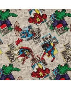 Retro Badge Fabric CP53385