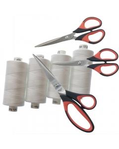 Overlocker starter pack with scissors and threads