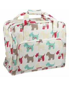 Sewing Machine Carry Bag in Scottie Dog Print