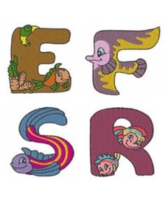 Sea World Alphabet Font Embroidery Designs