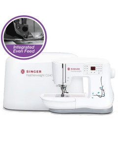 Singer Featherweight C240 with very special IEF - Even Feed System
