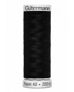 Gutermann Sulky Rayon Thread 200m (1005) Black