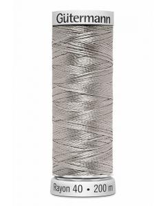 Gutermann Sulky Rayon Thread 200m (1085) Silver Tint White