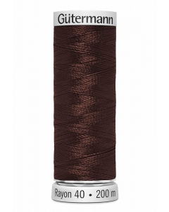 Gutermann Sulky Rayon Thread 200m (1247) Dark Reddish Mink