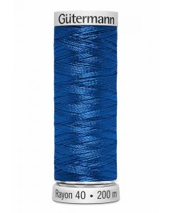 Gutermann Sulky Rayon Thread 200m (1253) Mid Blue Aster