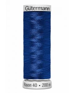 Gutermann Sulky Rayon Thread 200m (526) Mid Mediterranean Blue