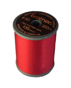 Brother Satin Finish Embroidery Thread 300m spool RED 800