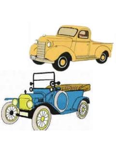 10 set Large Vintage Car Machine Embroidery Designs