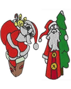 20 set Christmas Santa Embroidery Design
