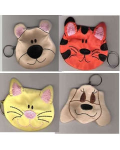 Machine Embroidery Design Zipped Animal Bags
