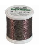 Madeira Twisted Metallic 200m Thread - 426 Penny Copper/Black