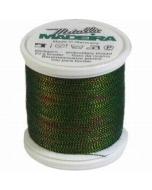 Madeira Twisted Metallic 200m Thread - 490 Green/Blue/Copper/Gold
