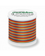 Madeira Multi Rayon Thread 200m - 2142 Red/ Gold/ Blue