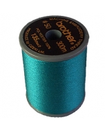 Brother satin finish embroidery thread. 300m spool TEAL GREEN 534