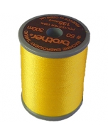 Brother satin finish embroidery thread. 300m spool YELLOW 205