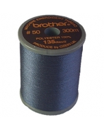 Brother satin finish embroidery thread. 300m spool DARK GREY 707