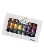 Brother Satin Machine Embroidery Thread Set of 22 spools