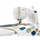 Large working area for quilting or curtailn