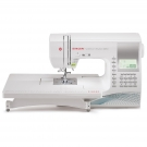 Singer Quantum Stylist 9960 sewing machine with extension table