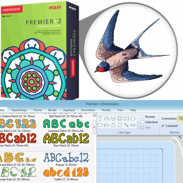 Premier 2 Embroidery Software System Sewing Machine Sales
