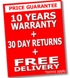 Up to 10 Years Warranty with 30 Day Returns