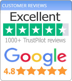 Our TRUSTPILOT Reviews Rating
