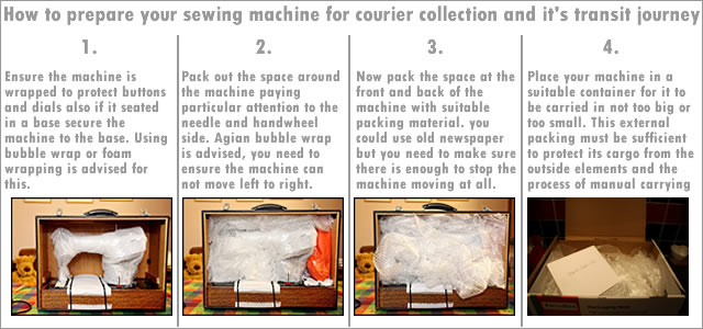 how to pack a sewing machine for transport